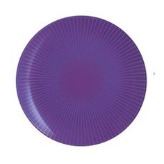 Assiette à dessert violette à rayures 20,5 cm Amori LUMINARC