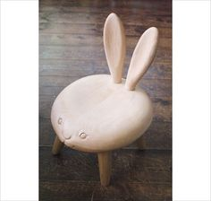 If I had a little girl, I'd want a little bunny stool just like this for her nursery.