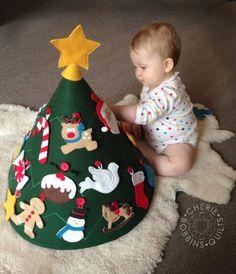 Esta lúdica árvore de Natal infantil é linda (Foto: cheriebobbins.blogspot.com.au)                                                                                                                                                                                 Mais