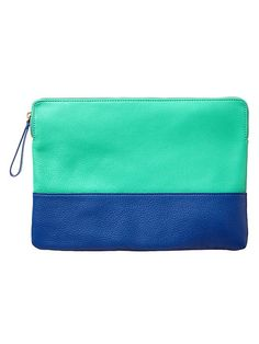 This two tone leather clutch is perfect to match with a Color Rocks ring.