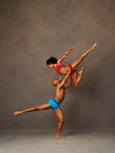 Matthew Rushing and Linda Celeste Sims. Photo by Andrew Eccles.....Alvin Ailey American Dance Theater