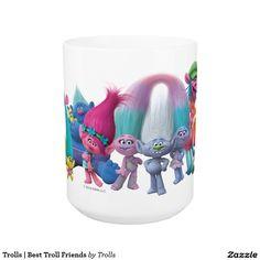 Trolls | Best Troll Friends. Regalos, Gifts. Producto disponible en tienda Zazzle. Tazón, desayuno, té, café. Product available in Zazzle store. Bowl, breakfast, tea, coffee. Link to product: http://www.zazzle.com/trolls_best_troll_friends_coffee_mug-168894270290944909?CMPN=shareicon&lang=en&social=true&rf=238167879144476949 #taza #mug #trolls