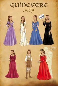 Arthur and Gwen Photo: Guinevere's Costumes Through The Seasons Merlin Gwen, Merlin Show, Merlin Series, Merlin Fandom, Merlin Cast, Merlin And Arthur, King Arthur, Teen Wolf, Morgana Le Fay