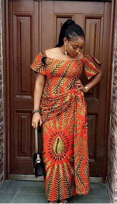 Latest Ankara Skirt & Blouse For African/Nigeria Wedding African Maxi Dresses, Ankara Dress Styles, Trendy Ankara Styles, Latest African Fashion Dresses, African Dresses For Women, African Attire, African Wear, Ankara Skirt, African Print Clothing