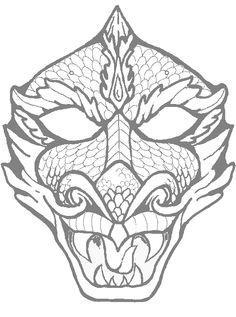 Coloriages & dessins de masque :