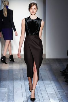 Victoria Beckham - wow, this is amazing. The textures, the brown and black, the length, the slit.