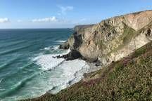 Cornish Coastal Path views, a 20 minute walk away Ocean Sunset, Cornwall, Beautiful Gardens, Walks, Bungalow, United Kingdom, Coastal, England, Beach
