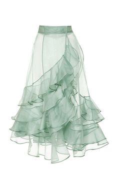 M'O Exclusive Mar Dulce Silk Organza Skirt by Johanna | Moda Operandi