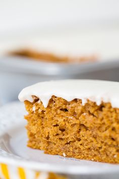 Pumpkin Spice Sheet Cake Recipe ~ this cake is moist and has the most delightful flavors of Fall, topped with a creamy cream cheese frosting layer