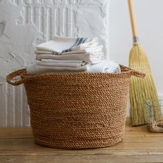 Coiled Rope Laundry Basket | west elm