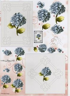 Broderies et 3D - Fleurs - Nerina De - Picasa Webalbums Embroidery Cards, Embroidery Patterns, Hand Embroidery, Create Collage, Sewing Cards, 3d Pictures, Paper Frames, Card Patterns, Stitch 2