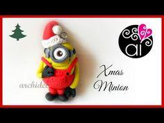 Polymer Clay Tutorial | Christmas Minion | DIY Minion Fimo | Despicable Me | Cattivissimo Me - YouTube