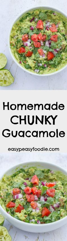 Homemade Chunky Guacamole | Posted By: DebbieNet.com