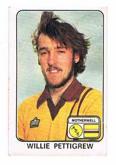 Football 79 Willie Pettigrew of Motherwell Panini - English & Scottish Leagues Football Season, Baseball Cards, Sports, Hs Sports, Sport