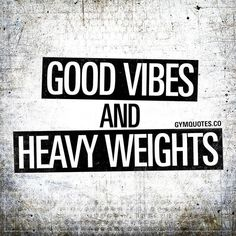 Good vibes and heavy weights 🙌🏼 How I live my life! Trying to fill my life with a lot of happiness and spread good vibes around me and lift a lot of heavy shit! 😍❤️ Make sure you spread good vibes and Crossfit Quotes, Gym Quote, Fitness Quotes, Fitness Humor, Fitness Diet, Health Fitness, Easy Fitness, Crossfit Gym, Fitness Gear