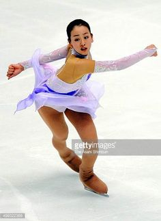 Mao Asada competes in the Ladies' Short Program day two of the Japan Figure Skating Championships at Namihaya Dome on December 27 2007 in Kadoma...
