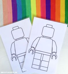 Do you have a lego lover in your life?? My kids LOVE the lego movie big time, and so I just knew they'd love this activity! I found this awesome outline of a mini fig from here and popped two of them onto an A4 sheet for printing {I like this size as it's a little more manageable and not so large for colouring etc} I let the kids have a couple that they could draw on with crayons and pencils. I LOVE how Noah did these three!  I also laminated a couple for …