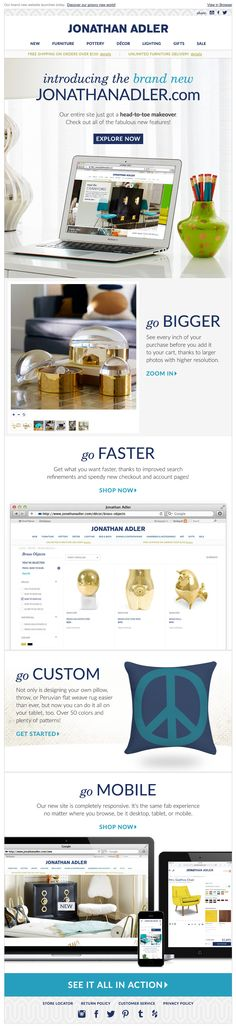 Jonathan Adler email 2015 website redesign Introducing the new jonathanadler.com