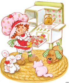 Strawberry Shortcake and pets
