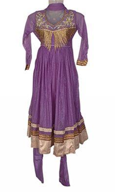 Lavender Colour Kids/ Girls Punjabi Suit, Vasundhara Fashions Indian Clothing