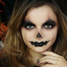 Jack-o'-lantern Halloween makeup