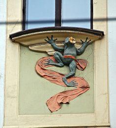 Art Nouveau Building Ornament in Prague