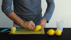 Great way to do several Lemon Twists at a time for garnishing several drinks