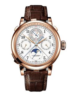 Lange & Sohnes million Grand Complication featuring seven complications (including a grande sonnerie and perpetual calendar) and 14 indications. Best Watches For Men, Fine Watches, Luxury Watches For Men, Cool Watches, Rolex Watches, Patek Philippe, Audemars Piguet, Fleurier, Swiss Army Watches