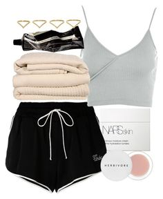 """Untitled #4807"" by olivia-mr ❤ liked on Polyvore featuring NARS Cosmetics, Off-White, Topshop, Brahms Mount, Aesop, Ana Khouri and Herbivore"