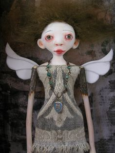Shadow Box Doll Sculpture Doll hard sculpted par CindyRiccardelli, $275,00