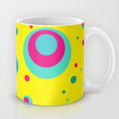 #mug #cup #yellow #vibrant #cute