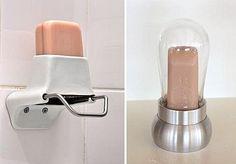 Soap Flakes bar soap dispensers lets you use bar soap just as liquid soap
