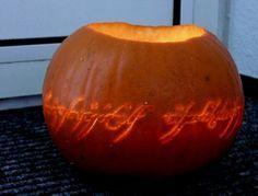 One pumpkin to scare them all  One pumpkin to find them  One pumpkin to bring them all  And in the darkness bind them