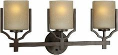 Forte Lighting 5401-03-32 3 Light Indoor Bracket Lights Bathroom by Forte Lighting. $117.00. Finish:Antique Bronze, Glass/Shade:Umber Linen Glass, Light Bulb:(3)100w A19 Med F Incand Three Lights Indoor Bath Bracket Lights
