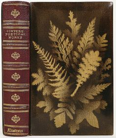 Goat skin and red maple wood (anon.) 'Cowper's Poetical Works' 1874, photo by peacay via Flickr