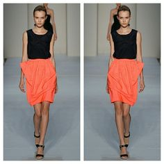 ON HOLD Marc Jacobs Neon Coral Taffeta Skirt NWOTs. By Marc x Marc Jacobs. Price tag is partially missing. Still brand new and never worn. Marc Jacobs Skirts