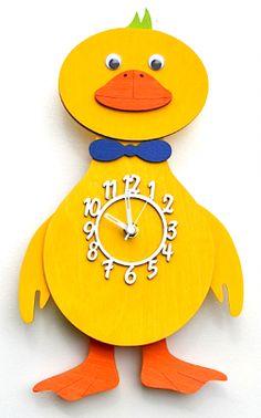 Yellow Duck Pendulum Clock