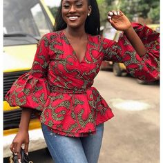 Linda Osifo is pretty much a stunner when it comes to fashion especially in African print dress styles. I have compiled african print styles that have been worn African Fashion Ankara, Ghanaian Fashion, Latest African Fashion Dresses, African Print Fashion, Africa Fashion, African Style Clothing, African Print Peplum Top, Ankara Peplum Tops, Ankara Tops Blouses