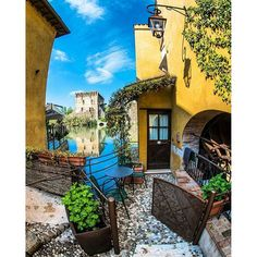 Borghetto sul mincio, one of the most beautiful villages of the Veneto region. Photo by: Beautiful World, Beautiful Places, Beautiful Pictures, Italian Street, Destinations, Lake Garda, Paradis, Verona, Dream Vacations