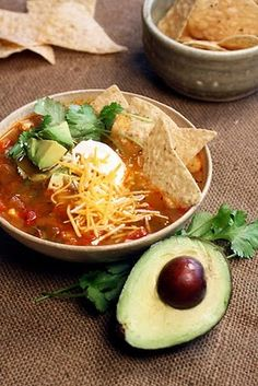spicy Vegetarian Tortilla Soup from the Cooking Photographer