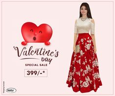Get Valentine's Day ready without spending thousands of bucks. Check Valentine's Day offers now. Valentine Day Offers, Valentine Day Special, Valentines, Sale Of The Day, New Outfits, Fashion Outfits, Secondary Color, Festival Party, Blouse Styles