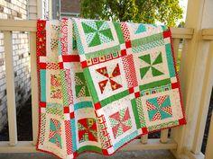 Ready, set, snow pinwheel quilt.