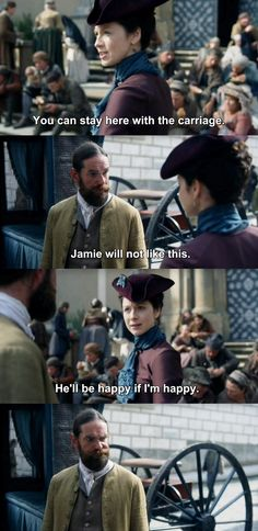 """""""Jamie will not like this"""" - Claire and Murtagh #Outlander"""