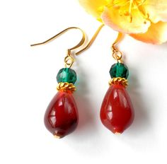 Carnelian Gemstone Earrings Stone Dangle Earrings by APerfectGem, $16.00 www.etsy.com/shop/aperfectgem