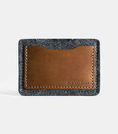 Old Calgary - Alpha Card Wallet (Anthracite), wool felt and Italian leather.