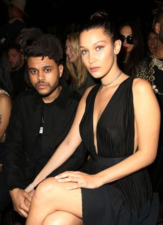 Bella Hadid and The Weeknd looking all cute in matchy-matchy outfits at NYFW. Jealous, us?