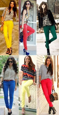 colored pants inspiration