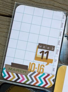 So this is what i can do with these week overview  cards.  The boxes are to tiny to write in. Love this idea.