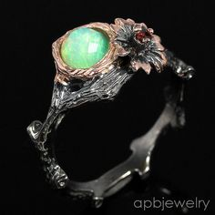 Top Special AAAA Natural Opal 925 Sterling Silver Ring Size 9.25/R34452 #APBJewelry #Ring
