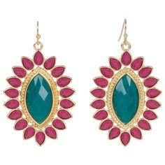 Kirra Tate Marquise Purple and Teal Earrings